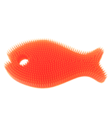 Innobaby Silicone Bath Scrub Orange and Mango Fish