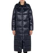 Save The Duck Womens Hooded Maxi Puffer Jacket Black