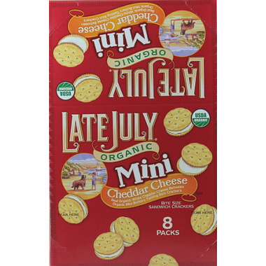 Late July Organic Cheddar Mini Sandwich Crackers
