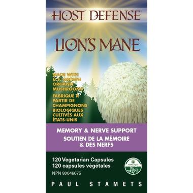 Host Defense Lion\'s Mane (Hericium Erinaceus) Capsules