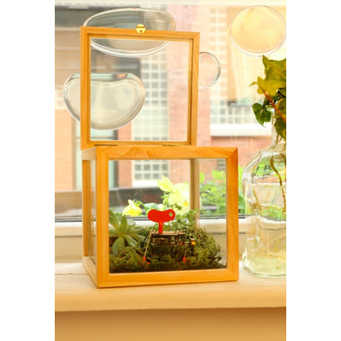 Kikkerland Square Glass Storage Box