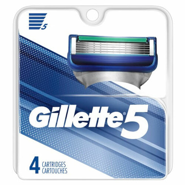 Gillette5 Men\'s Razor Blade Refills 4 Count