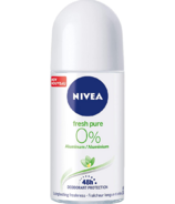 NIVEA Fresh Pure 0% Aluminum 48 Hour Roll-On Deodorant