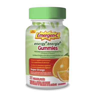 Emergen-C Energy+ Gummies Super Orange