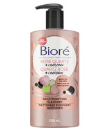 Biore Rose Quartz + Charcoal Daily Purifying Cleanser