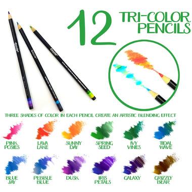 Crayola Signature Tri-Colour Pencils