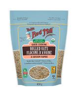 Flocons d'avoine biologiques à cuisson rapide de Bob's Red Mill