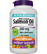 Webber Naturals Wild Alaskan Salmon Oil Bonus Size