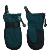 Calikids Waterproof No Thumb Mitten with Clip Blue Saphire