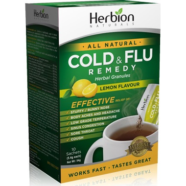 Herbion Cold & Flu Lemon Flavour