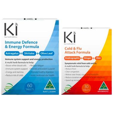 Martin & Pleasance Ki Cold & Flu + Immune Defense Bundle