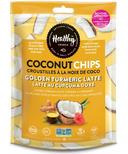 Healthy Crunch Golden Tumeric Latte Coconut Chips