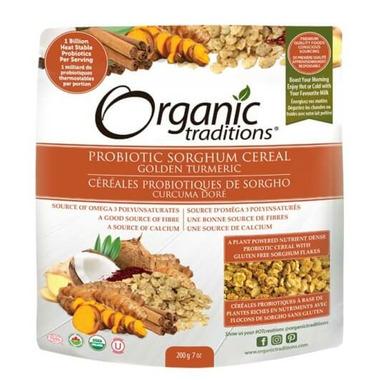 Organic Traditions Probiotic Sorghum Cereal Golden Turmeric