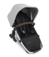 UPPAbaby VISTA V2 RumbleSeat STELLA Light Grey Silver Chestnut Leather