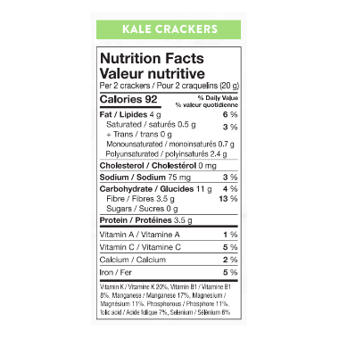Oh My Yummies Superfood Crackers Kale