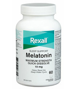 Rexall Maximum Strength Melatonin Quick-Dissolve Sleeping Aid