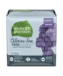 Seventh Generation Chlorine-Free Pads Ultra-Thin with Wings Overnight