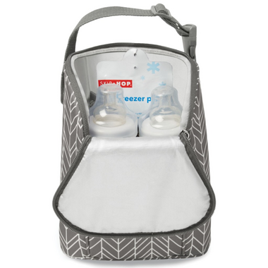 Skip Hop Grab and Go Double Bottle Bag Grey Feather