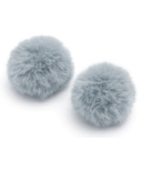 Baubles + Soles Blue Grey Pom Pom Baubles