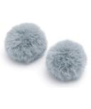 Baubles + Soles Blue Grey Pom Pom Baubles
