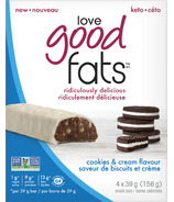 Love Good Fats Cookies & Cream Snack Bar