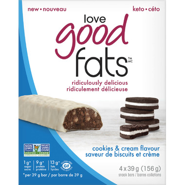 Love Good Fats Cookies & Cream Bars