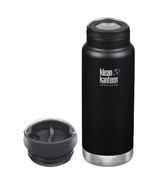 Klean Kanteen TKWide Shale Black Bottle + Cafe Cap Bundle
