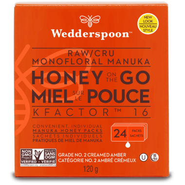 Wedderspoon Raw Manuka Honey On The Go K Factor 16