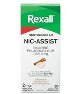 Rexall Nic-Assist Nicotine Gum Regular Strength 2 mg Cinnamon