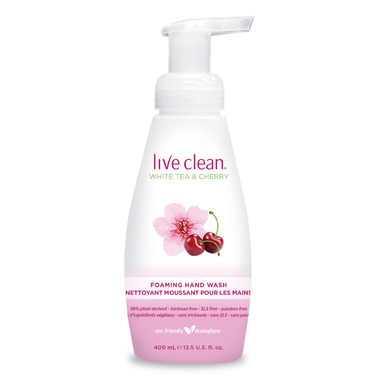Live Clean White Tea & Cherry Foaming Hand Soap