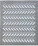 Ten & Co. Swedish Sponge Cloth Gray Arrows