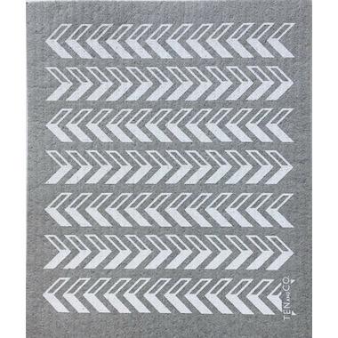 Ten & Co. Swedish Sponge Cloth Gray Arrows