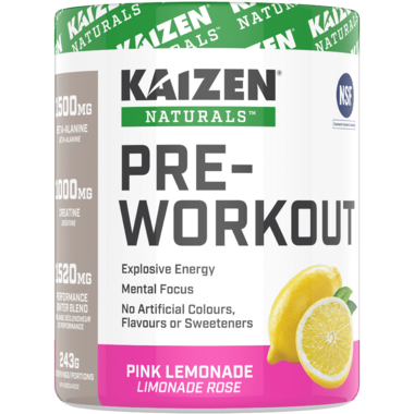 Kaizen Natural Pre-Workout Pink Lemonade