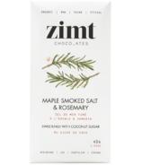Zimt Chocolates Maple Smoked Salt + Rosemary Dark Chocolate