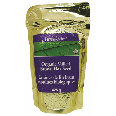 Herbal Select Organic Milled Brown Flax Seed