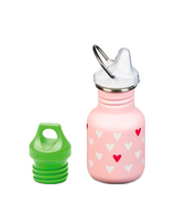 Klean Kanteen Millenial Hearts Kid Classic Sippy + Loop Cap Bundle