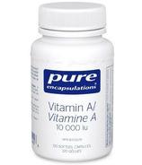 Pure Encapsulations Vitamine A 10,000 ui