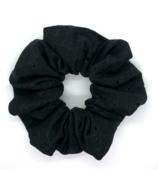 All Tied Up Black Eyelet Scrunchie