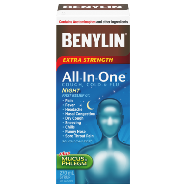Benylin All-In-One Extra Strength Cold & Flu Nightime Syrup