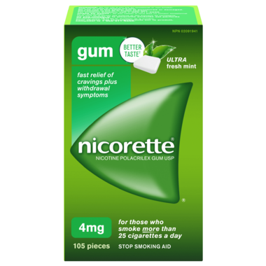 NICORETTE Gum Ultra Fresh Mint 4mg