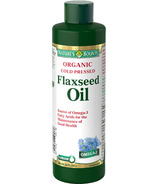 Nature's Bounty Organic Cold Pressed Flax Seed Oil Liquid