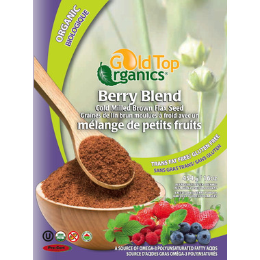 Gold Top Organics Berry Blend Cold Milled Brown Flax Seed