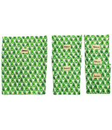 BeeBAGZ Beeswax Bags Family Pack Green