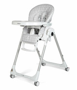 Peg Perego Prima Pappa Zero High Chair Linear Grey