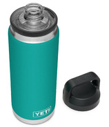 YETI Rambler Bottle + Chug Cap Aquifer Blue