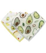 Loulou Lollipop Bandana Bib Avocado Set