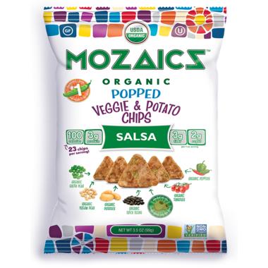 Mozaics Salsa Popped Veggie & Potato Chips