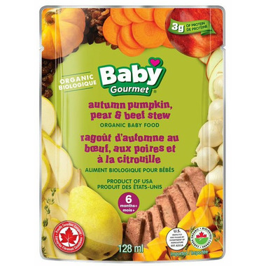 Baby Gourmet Autumn Pumpkin Pear & Beef Stew Baby Food