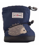 Stonz Navy Hedgehog Toddler Booties