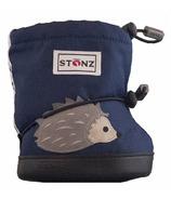 Stonz Navy Hedgehog Toddler Booties